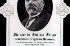 Bidprentje van burg.F.G.Bouwens