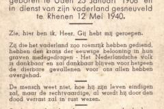 Bidprentje Bij het overlijden van Martien Tiebosch .