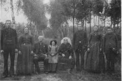 Datering 1900. Fam. Goort van de Zanden - van Sleeuwen