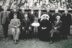 Datering 1920. Familie Hanegraaf.