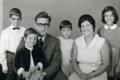 Datering 1957. Gezinsfoto familie Van der Burgt- Hartjes