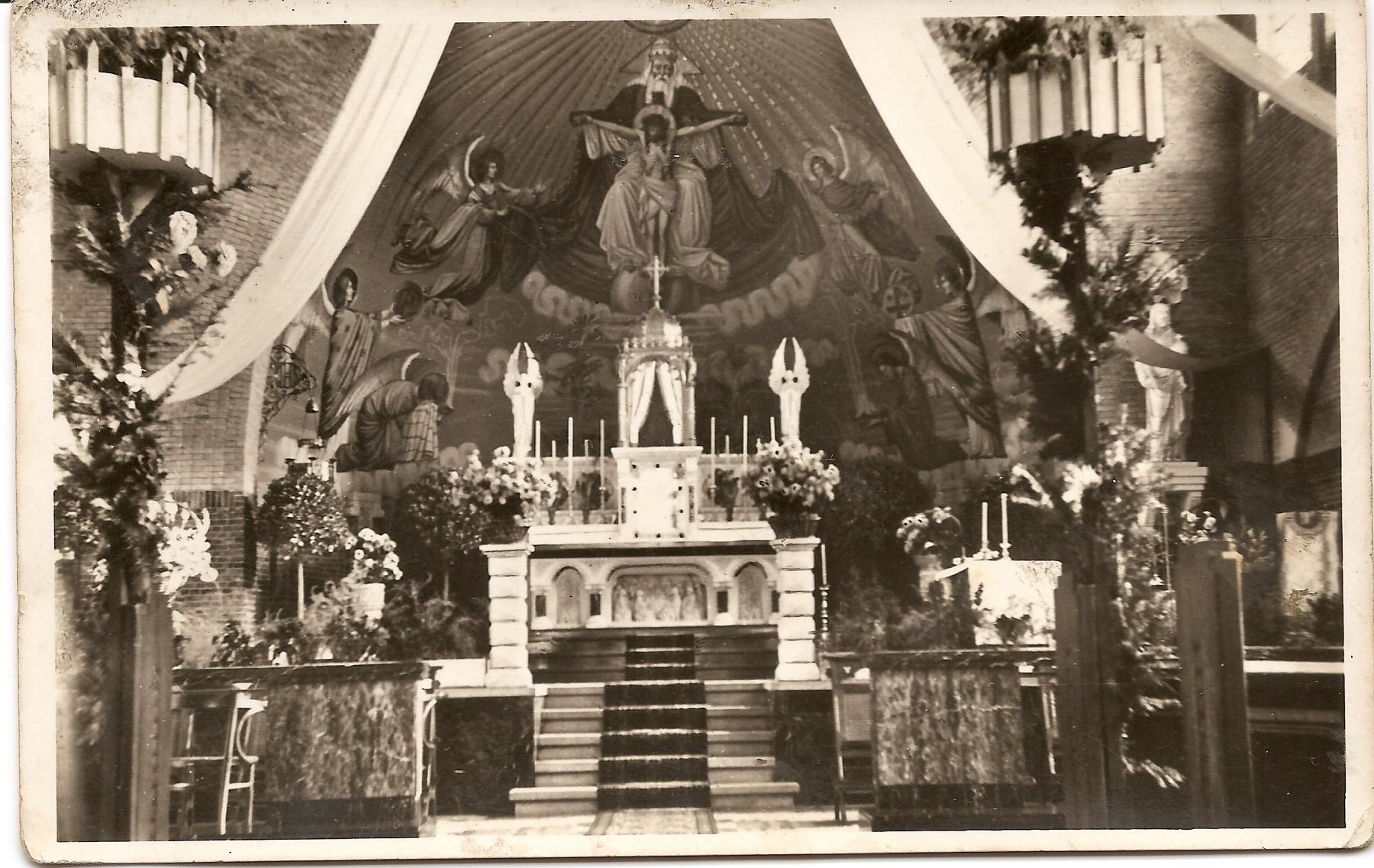 Datering onbekend.  Absis van de Agathakerk.